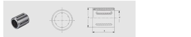 Pressed bush linear bearing KH1630