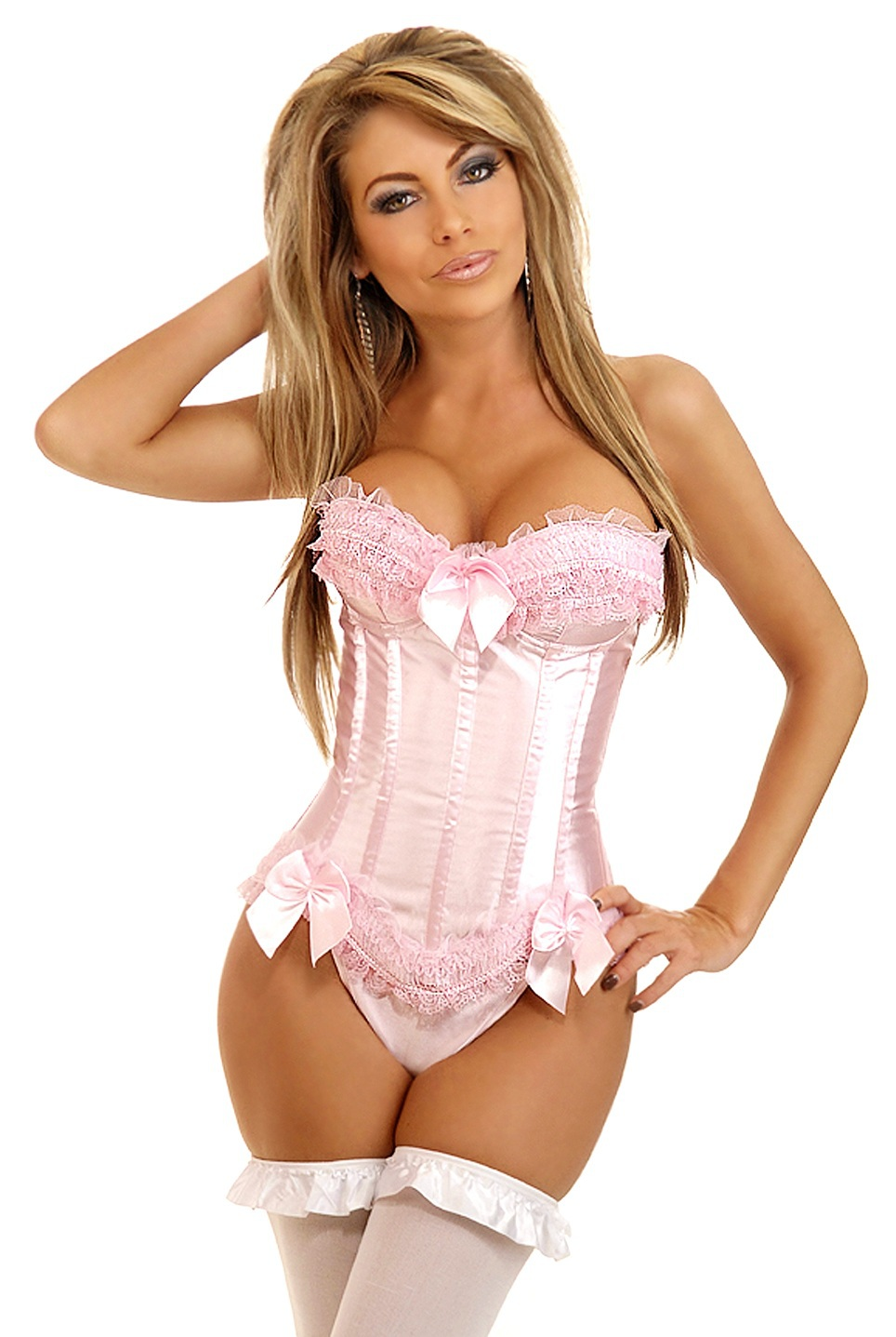 New arrival!women sexy bridal corsets,pink red lace satin bow Underbust Bustier Waist Cincher Training Corsets Body Shapers Wear
