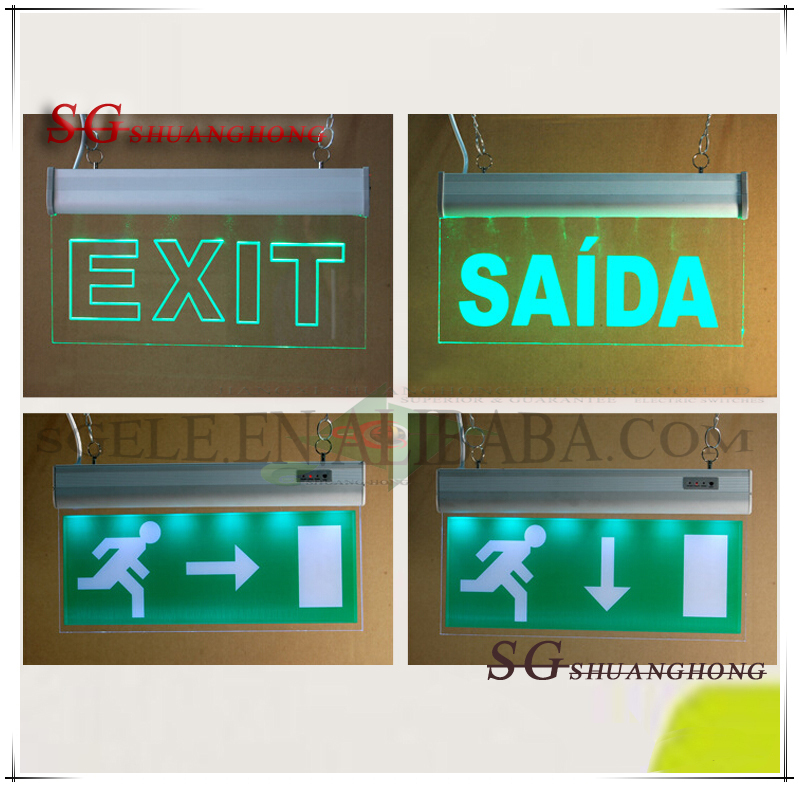 Led Emergency Exit Light Illuminated Exit Signs Emergency Exit