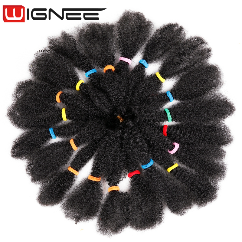 Synthetic Afro Kinky Bulk Crochet Hair Extension Havana Mambo Twist Crochet Braiding Hair For Women