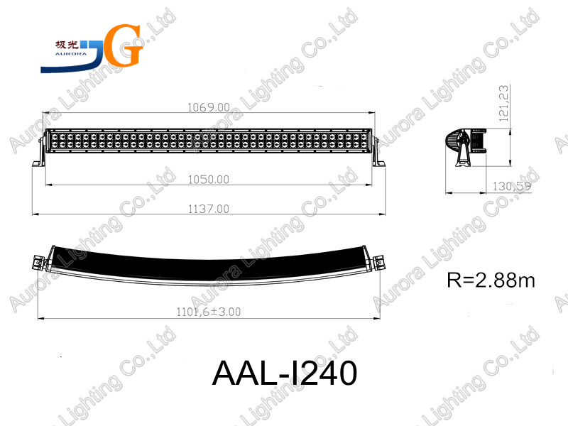 42 Inch Aurora Led Off Road Light Bar Jeep Jk Wrangler Aal-i240 ...