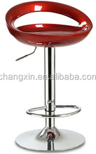 Adjustable height swivel ABS bar chair