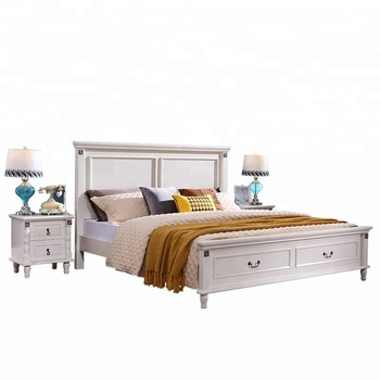Modern Design Wooden Furniture American Style White King Or Queen Size Bedroome Set Buy White Bedroom Set American Bed Designs King Size Wooden Bedroom Set Product On Alibaba Com