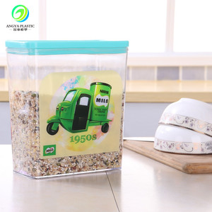 Food Grade Plastic Container Organize Storage Kitchenware Coarse Grain Storage
