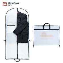 Personal Customized Dustproof mens Oxford travel carrier suit cover bag with Pocket