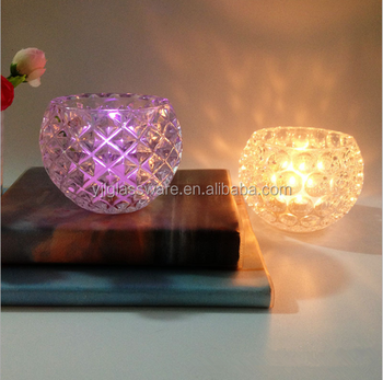 hot selling wholesale price different style glass tea light candle holder