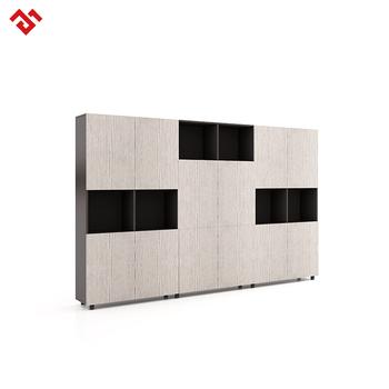 Wood Filing Cabinets Open Doors Storage