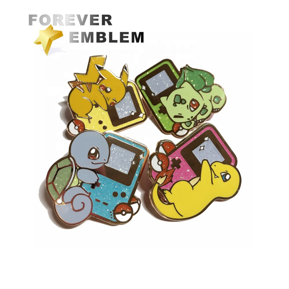 Custom Emaille Pins Geen Minimum Pokemon Emaille Pin Fabricage