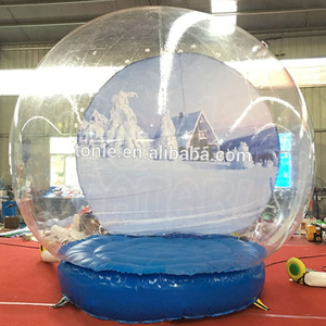 custom Christmas decoration inflatable human snow globe for sale