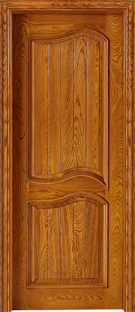 Luxury design carving flower wood door glass insert for Wooden single door design for home