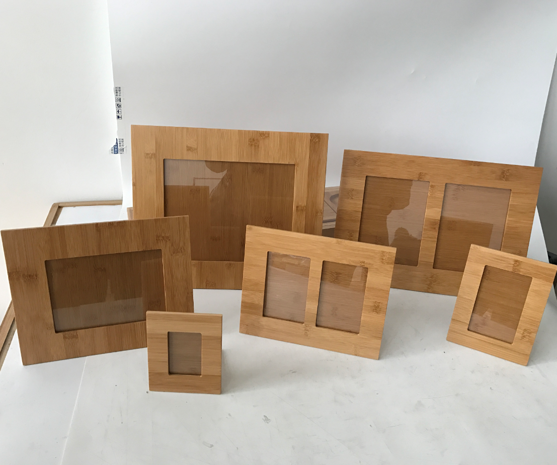 Custom Bamboo picture frames 6in 8in 10in photo frames