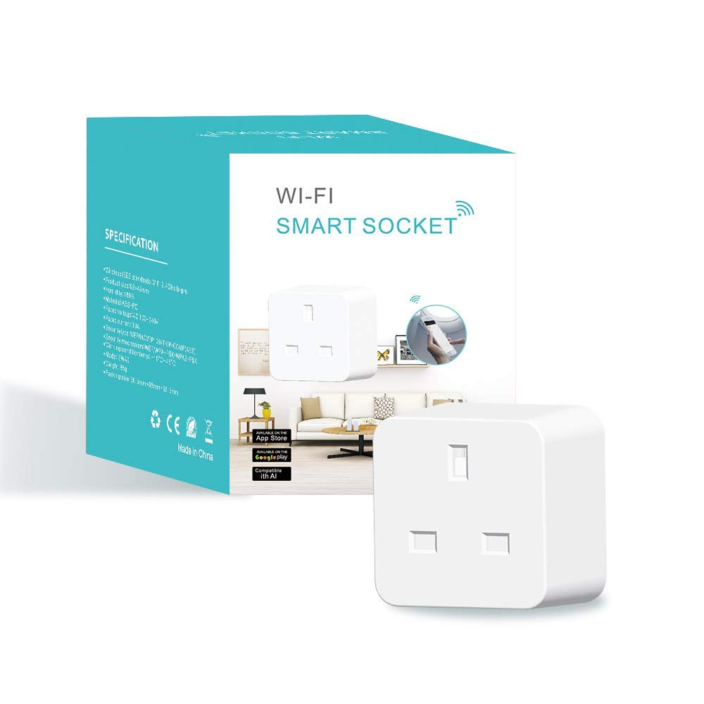 TUV <strong>BS</strong> UK <strong>Standard</strong> Wifi Smart Plug Power <strong>Socket</strong> With App Wireless Remote Control Wall Plug For IOS Home Automation <strong>Socket</strong>