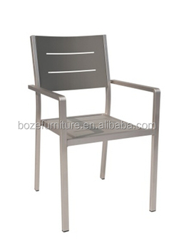 Heavy Duty Full Aluminum Chair, Easy Maintain Outdoor Stacking Chair,chair  For Heavy Person