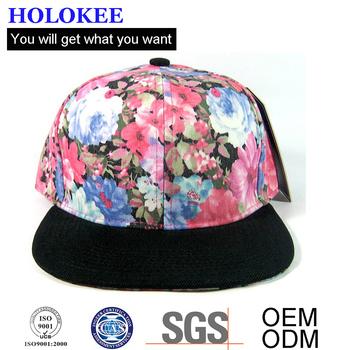 15538e1e9da 2018 Custom Snapback Cap Flet Floral Korean Hawaii Print Flower Hat ...