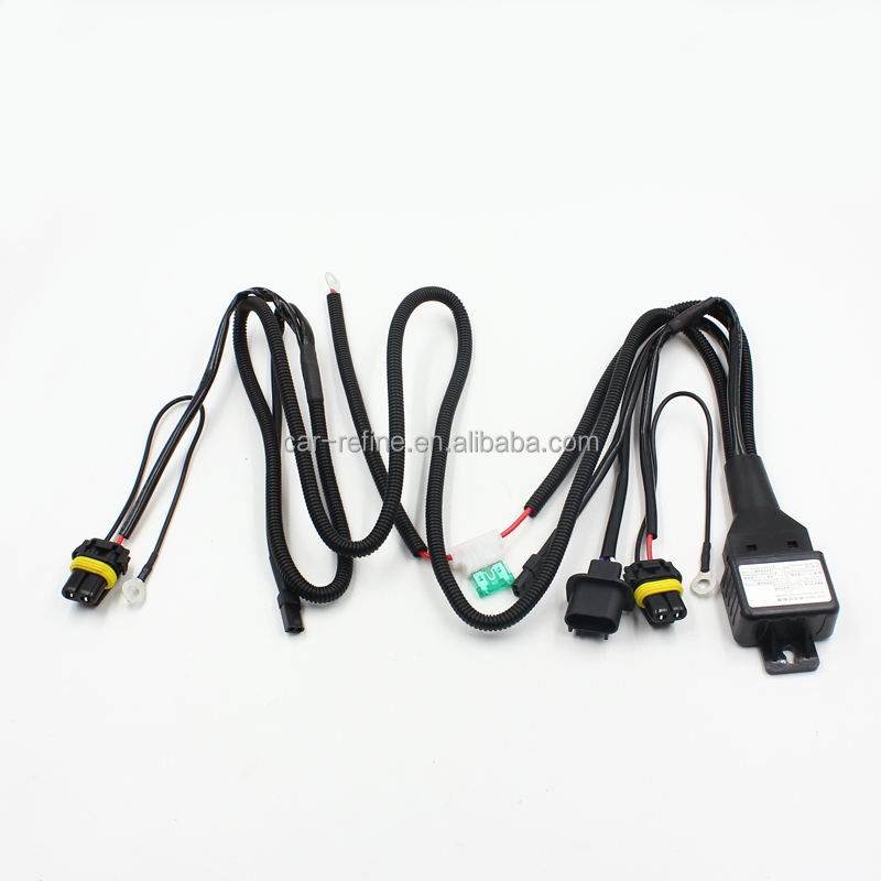 universal car auto xenon hid headlight wire harness h4 h1 h3 9005 g6 headlight wiring harness universal car auto xenon hid headlight wire harness h4 h1 h3 9005 9006 hb3 hb4 880 h11 h7 hid relay harness wiring cables kit