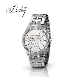 Destiny Jewellery Embellished watch Lush Watch for women and watch for men with crystals from Swarovski