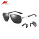 Male fashion aluminum frame polarized sunglasses