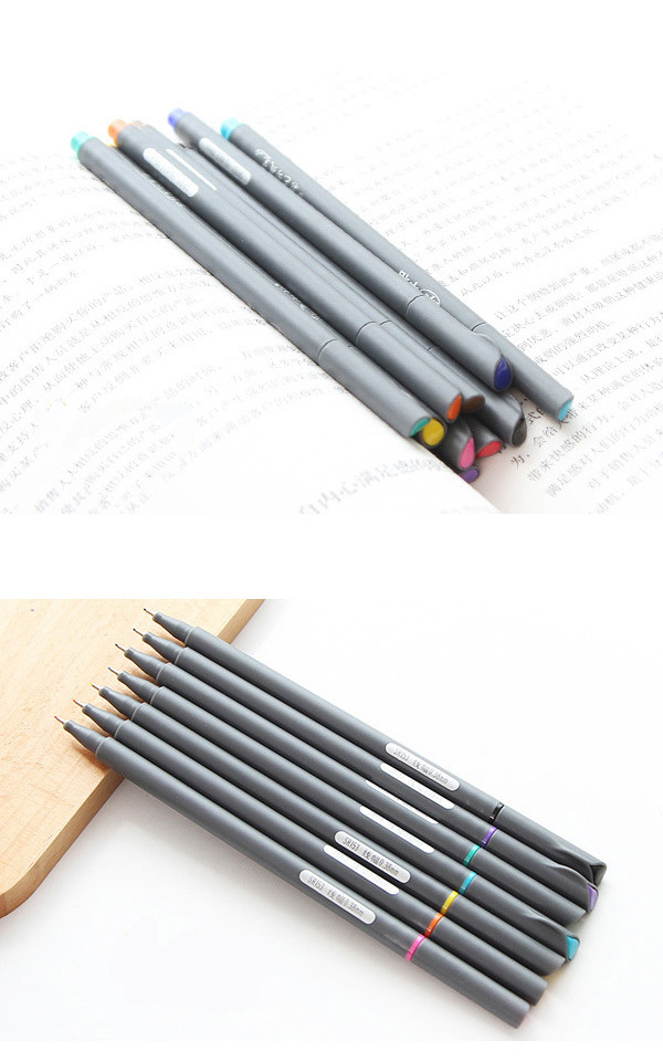 Wholesale Extremely Fine 0.38 mm Color Line, Stroke, Fiber Watercolor Pen