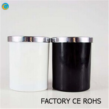 Whole Black And White Gl Candle Jars With Metal Lids 100 Payment Protection For Your Covered Made In China