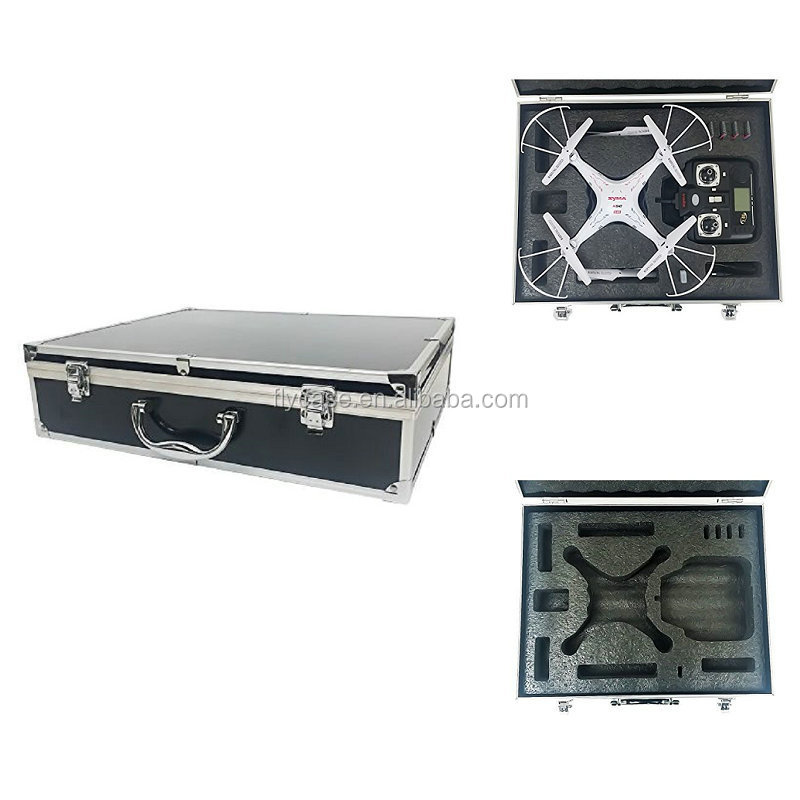 instrument aluminum suitcase ar drone carrying boxes with handle