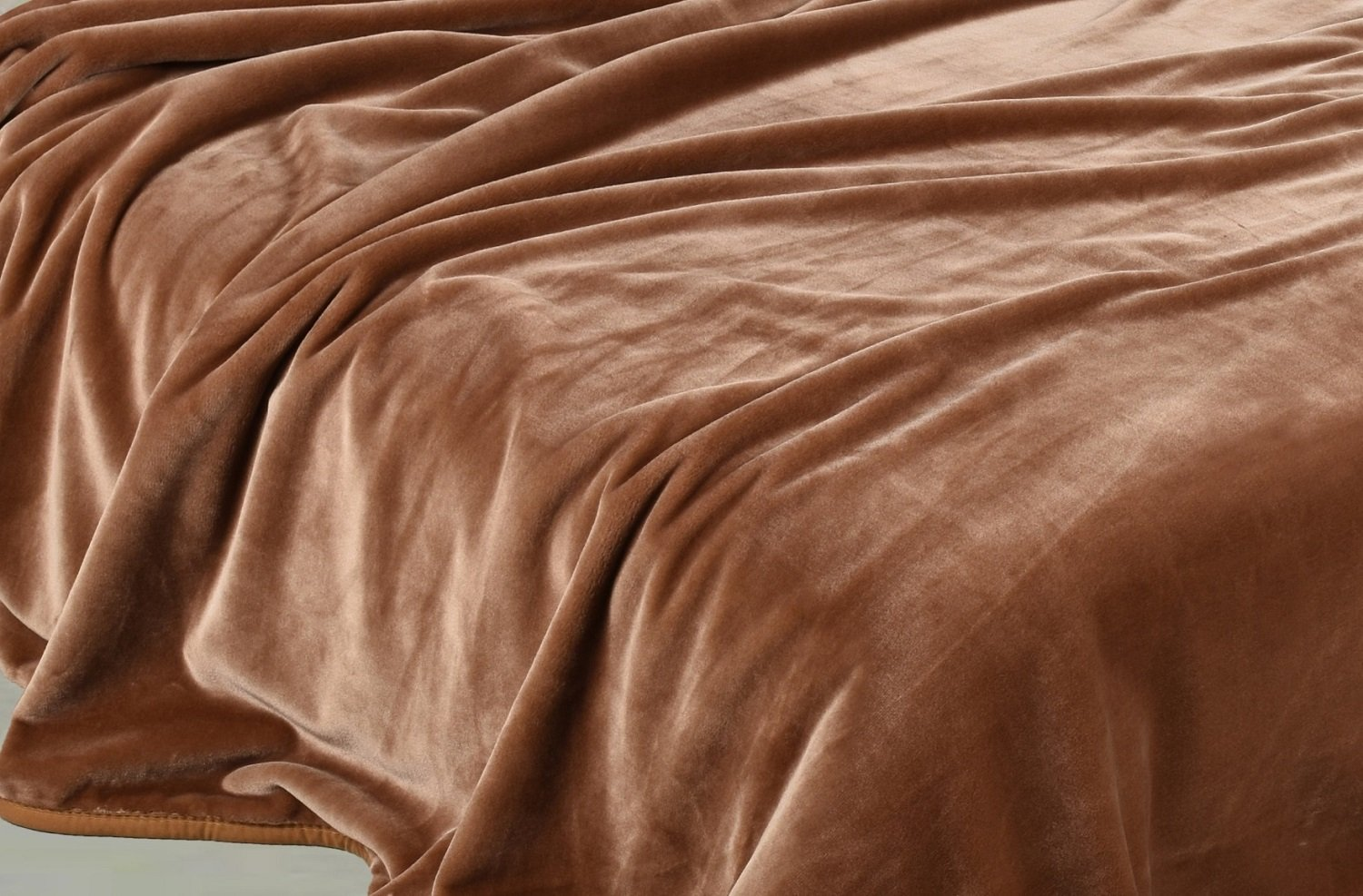 "Chezmoi Collection Heavy Thick One Ply Korean Style Faux Mink Blanket 9-Pound Oversized King 105x92"" (King, Coffee)"