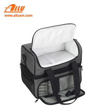 2018 Fashion Portable Multifunction lunch Bag Thermal Food Picnic Lunch Bags for Women Cooler Lunch Box Double Layer cooler bag