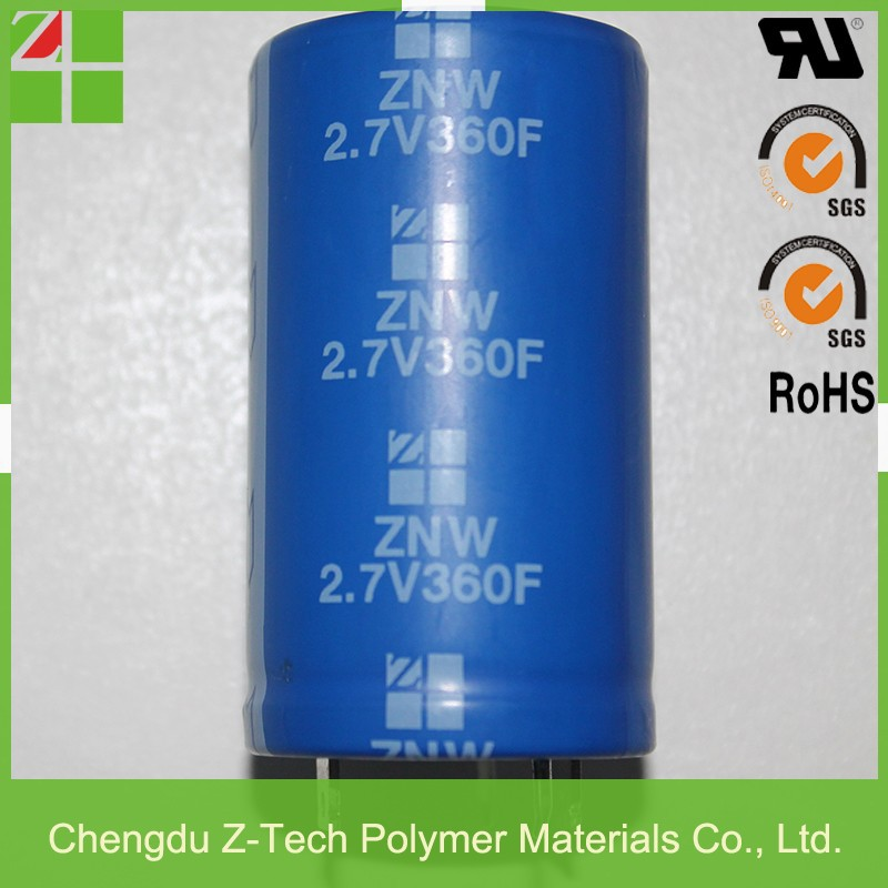 factory direct best price Low ESR & high power supercapacitor green-cap solder pin type 2.7V 360F super capacitor