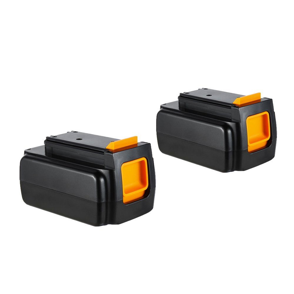 Masione LBXR36-2 Battery Pack for Black & Decker 40Volt Max Cordless Power Drill Tool 40V 2000mAh Lithium Ion Rechargeable 2-Pack