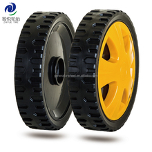 7 inch lawn mower plastic wheel with bearing and a lid for industrial trolley
