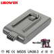 Libower supporting fast charging!! Supply Rechargeable Dy son 21.6V 2000Ah Lithium ion battery in long cycle life