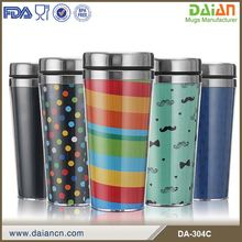 Double wall blank stainless steel sublimation travel mug