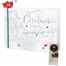 New design christmas record musical cards