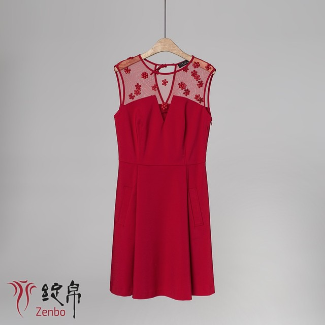 Hand beading dress sleeveless Italian quality
