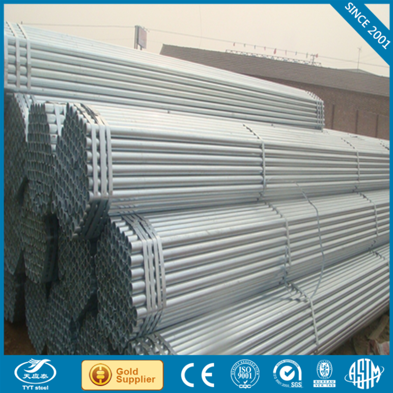 Q235 Carbon Steel gi pipes 50mm shipped by 40GP Container