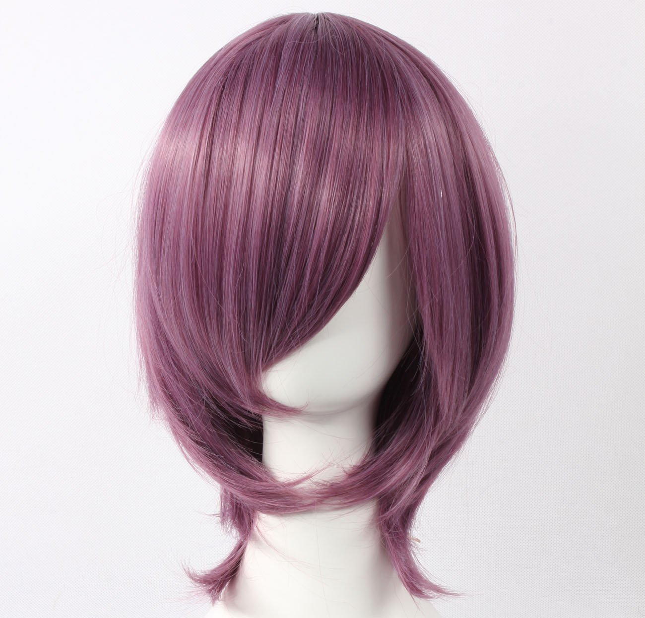 Coolsky Wig Dark Purple Wig Short Dark Purple Straight Wig Wigs