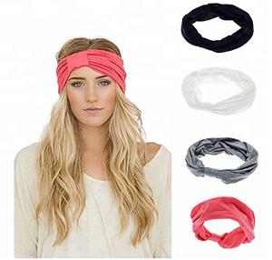 Women Fashion Elastic Turban Head Wrap Headband Twisted Hair Band