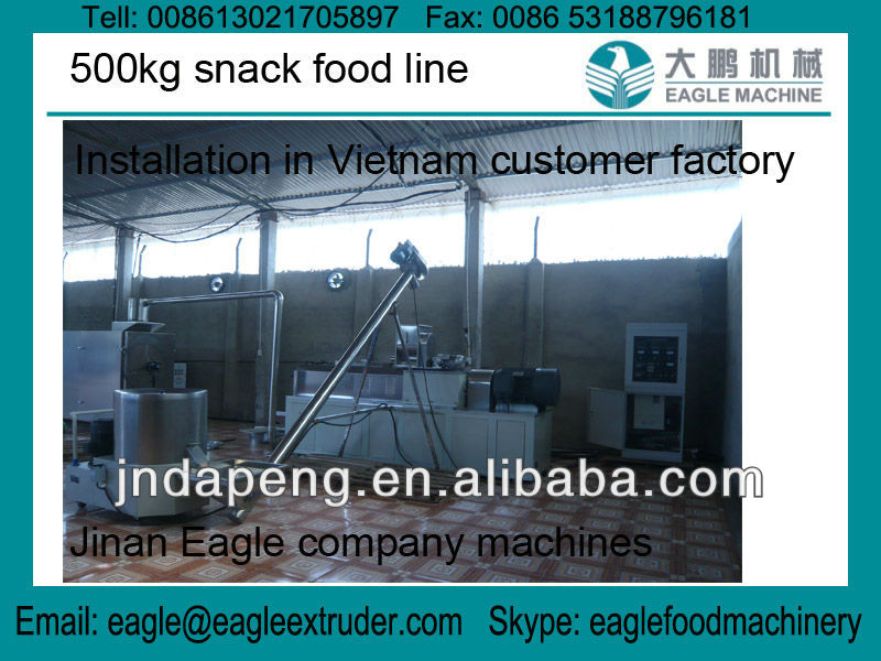 500kg corn snack food processing manufacturing line/plant in Vietnam