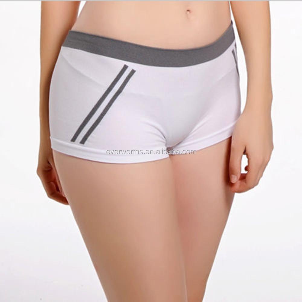 Microfiber Nylon Spandex Seamless Yoga Panties For Women