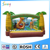 Full Printing Dinosaur Park Water Proof Inflatable Bouncers With Obstacle