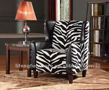 PU+Chenille Fabric Arm Chair LF-624