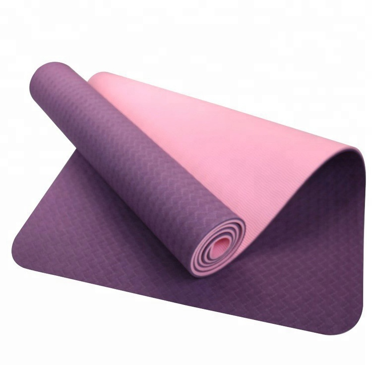 Doble Color antideslizante estera de Yoga Eco estera de Yoga TPE Mat 5mm