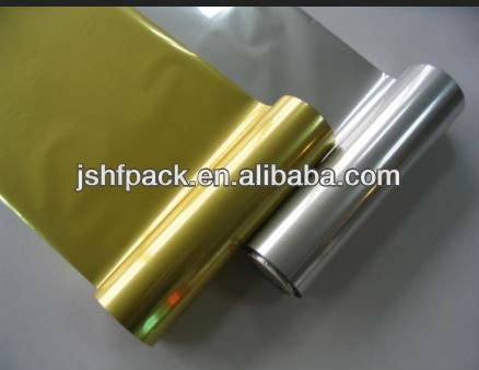 Matt silver and gold color PET hot stamping foil for plastic paper