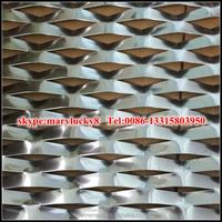 Aluminum sheet expanded metal mesh panels