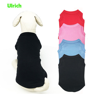 Ulrich hot sale custom design summer solid pet dog T shirt
