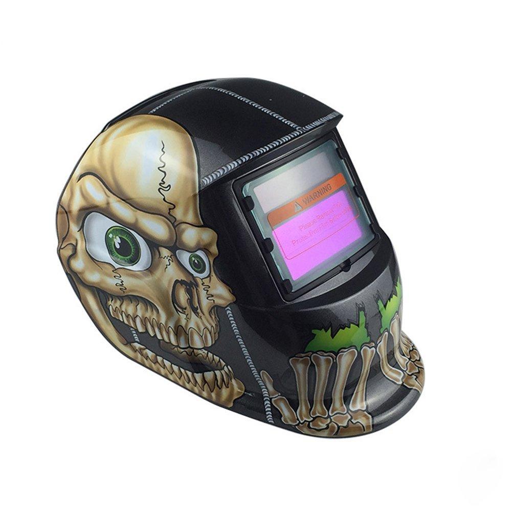 Ocamo Skull Mask Helmet Creative Unique Skull Mask Solar Helmet Auto Welding Helmet