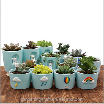 office flower pots. 2017 new style mini bonsai pots cool office gadget small cartoon weather flower garden pot g