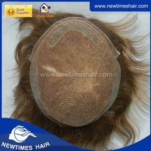 French lace with clear poly skin at sides and back for mens hair pieces