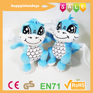 HI CE custom dragon mascot plush toys wholesale, plush toys dragon city