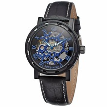 FORSINING Winner Self Wind Transparent Mechanical Men Watch, Leather Automatic Watch