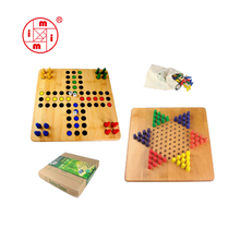 Houten spelletjes 2 in 1 game set <span class=keywords><strong>Ludo</strong></span> & Chinese checkers uit ICTI Fabriek